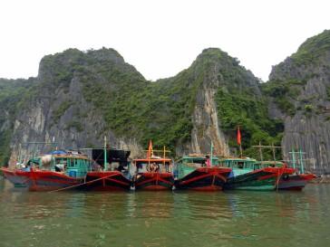 Pescadores de villa flotante