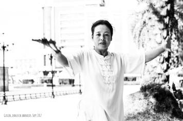 Danza en calles de Guilin
