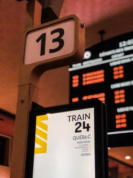 Estación de Montreal, puerta de embarque al tren